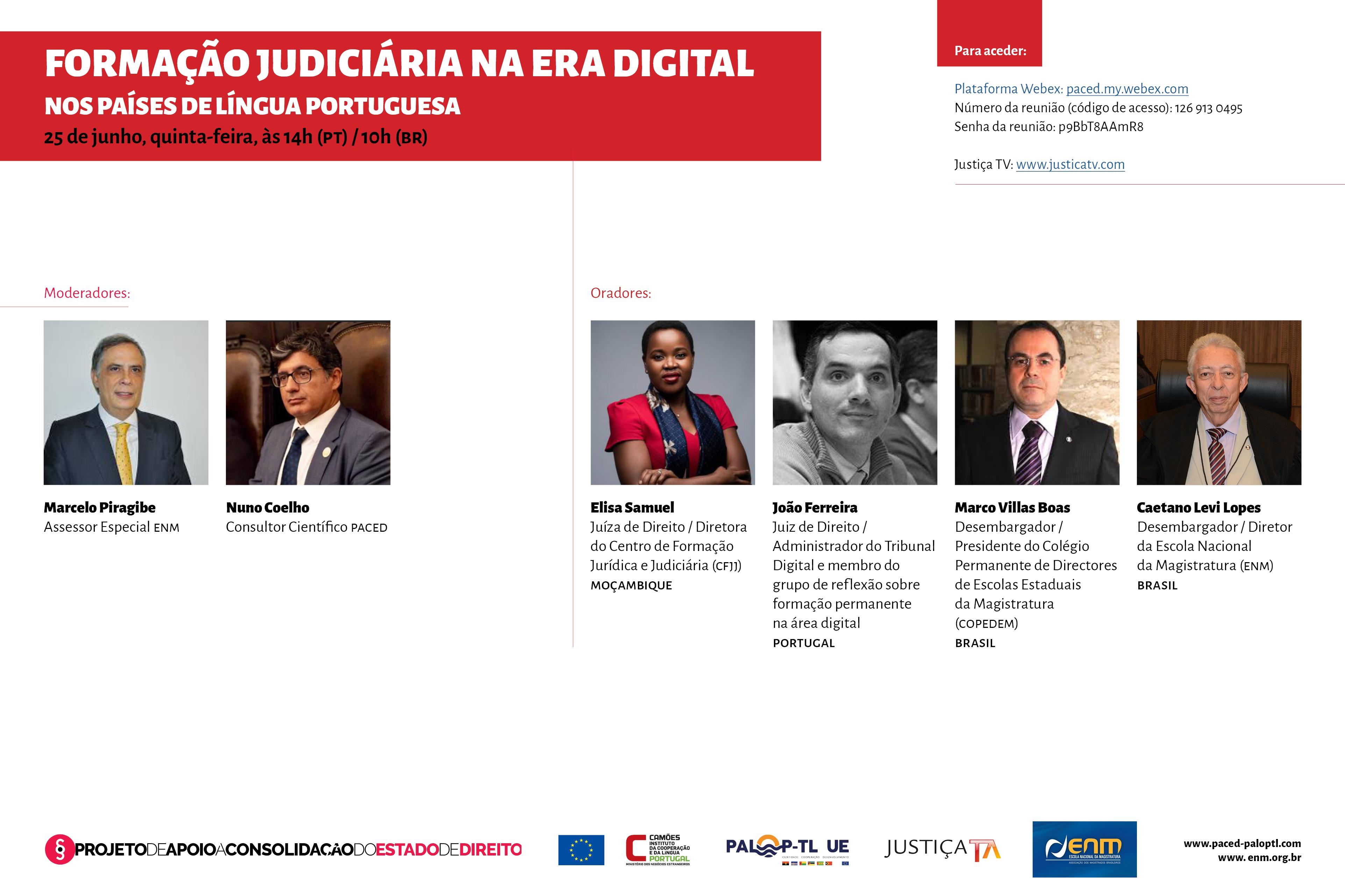 Ciclo de Conferências online: Formação Judiciária na era digital nos países de língua portuguesa